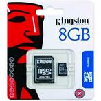 Kingston Micro SDHC + SD Adapter 8GB (SD en USB Memory)