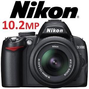 REFURB NIKON D3000 DSLR CAMERA KIT D3000 188494078 DIGITAL NIKKOR 18-55MM DX LENS
