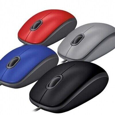 New Logitech M110 Quiet Silent USB Mouse Optical 1000DPI Retail Box - All Colors