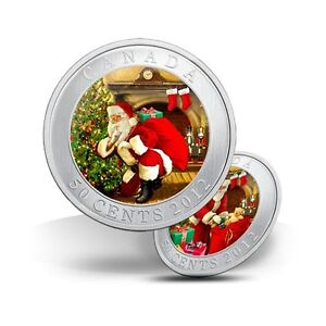 Limited Edition Santa's Magical Visit Holiday 50 Cent Coin 2012