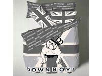 British Bull dog Union Jack Single Duvet Cover Bedding Set By Catherine Lansfield
