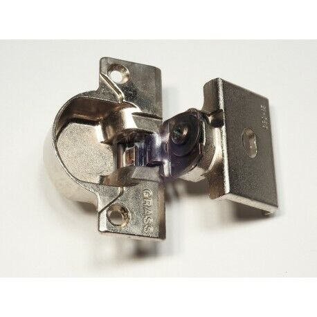 Grass 830-15 Nickel Hinge and mounting plate - Complete Hinge