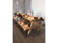 Mini Picnic Bench Cupcake Tea Cake Stand Display Wedding table christmas