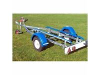 NEW INDESPENSION SMALL TENDER BOAT RIB OR JETSKI OR TO 3.9mts GALVANISED CAR TRAILER