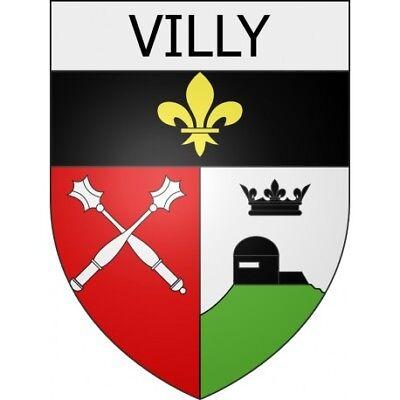 Villy 08 ville Stickers blason autocollant adhésif Taille:4 cm