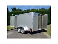 INDESPENSION BOX TRAILER 10 x 5 x 5 SIDE LOADING DOOR saving of £360 of r.r.p