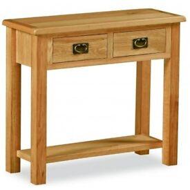 New Erne Salisbury Lite Oak Console table £119