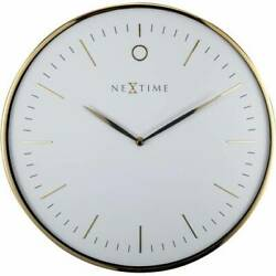 Boyle Home Décor Modern Stylish Designer Clock NeXtime Glamour - Gold/ White