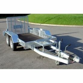 INDESPENSION 8' X 4'LOW LOADER PLANT TRAILER (2700KG gross) save £460 of r.r.p