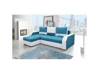 Brand New Modern Corner Sofa Bed Right Hand Side Aris With Storage Box and Sleeping Function