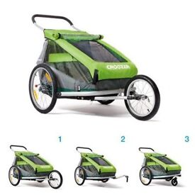 Croozer Kids for 2, Great double buggy/bike trailer