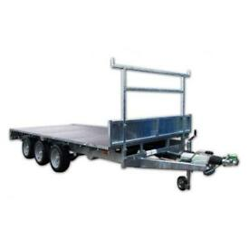 INDESPENSION TRI AXLE FLAT BED TRAILER 16 X 6