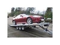 ...SAVE £600.... 18' X 7' TILTDECK CAR TRAILER (3500KG TRI-AXLE) recovery car transporter trailer