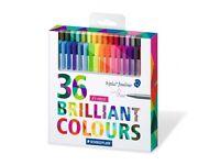 Staedtler 36 brilliant colours fineliners