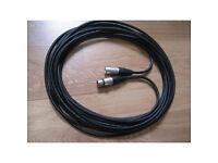 New 5m Van Damme Balanced Cable Neutrik XLR Microphone - other lengths available