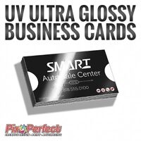 ★Affordable UV Ultra Glossy Business Cards Printing ✂$5 OFF