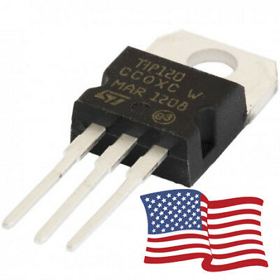 Npn Power Transistor - 10pcs - TIP120 NPN Darlington Transistor TO-220 60V 5A  for Ardunio/Pi 3 PIN USA