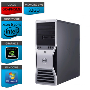 workstation Dell T5500 ( 12 logical cores / 32 Go RAM / Nvidia)