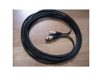 New 5m Van Damme Balanced Cable Neutrik XLR Microphone - other lengths available