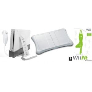 Console Nintendo Wii fit plus + DVD exercices + manettes