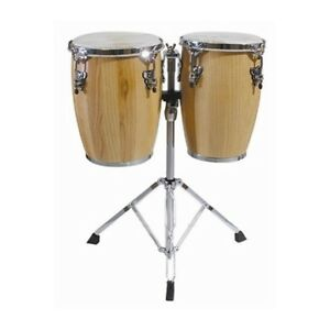 (Brand New) Percussion Conga Drum Pair & Stand $ 199.99  set