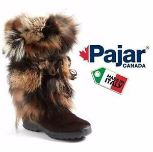 NEW PAJAR BOOTS WOMEN'S 7-7.5   WOMEN'S 7 - WOMEN'S 7.5 - BROWN - FOX FUR LADIES WINTER BOOT SHOES  97286233