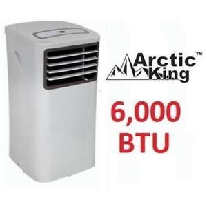 USED* ARCTIC KING PORTABLE AC MPPH-06CRN1-BI0 201666433 6000BTU Air Conditioner 3-in-1 FAN/DEHUMIDIFIER