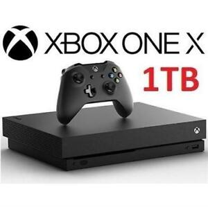 OB XBOX ONE X 1TB CONSOLE 1787 211608458 MICROSOFT VIDEO GAMES SYSTEM OPEN BOX