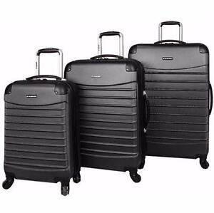NEW 3PC CIAO SPINNER LUGGAGE SET DARK GREY - HARD-SIDE - SPINNER LUGGAGE VOYAGER SUITCASE  TRAVEL GEAR BAG  81831337