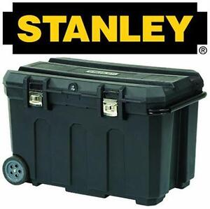 NEW* STANLEY MOBILE TOOL CHEST 50GA BLACK Power Hand Tools Organization Home Improvement