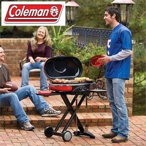 NEW COLEMAN CAMPING ROAD TRIP GRILL PROPANE BARBECUE BBQ OUTDOOR - LXE - RED
