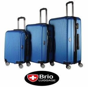 NEW BRIO HARD SPINNER LUGGAGE SET   3 PC HARD SPINNER LUGGAGE ROYAL BLUE SUITCASE TRAVEL GEAR BAG  85199524
