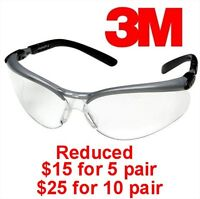 3M CLEAR ANTI-FOG LENS PROTECTIVE EYE GLASSES - BRAND NEW