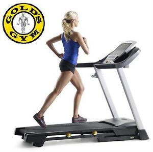 NEW GOLDS GYM TRAINER 720 TREAMILL MULTI LED DISPLAY AIRSTRIDE EXERCISE EQUIPMENT MACHINE WORKOUT TREADMILLS  85854747