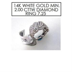 NEW* STAMPED 14K DIAMOND RING 7.25 JEWELLERY - 14K WHITE GOLD - MIN. 2.00 CTTW DIAMOND