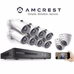 NEW AMCREST 16CH SURVEILANCE SYSTEM 720P 16CH HDCVI Tribrid Security W/10 CAMERAS DVR Digital Video Recorder 98736335