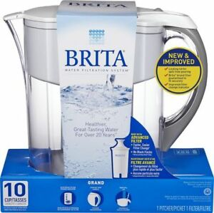 BRITA GRAND PITCHER WHITE 10 CUPS CAPACITY