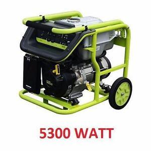 USED POWER IT! 5300 WATT GAS GENERATOR POWER TOOL EQUIPMENT INDOOR OUTDOOR  90445482