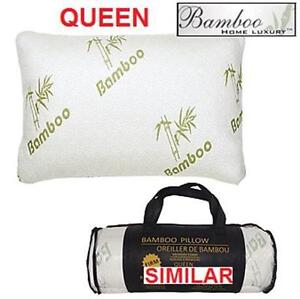 NEW BHL BAMBOO MEMORY FOAM PILLOW Q BAMBOO HOME LUXURY - QUEEN - BEDDING BEDROOM 76015273