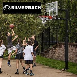 "NEW SILVERBACK BASKETBALL SYSTEM IN-GROUND NET - 60"" BACKBOARD Team Sports outdoor 75104055"
