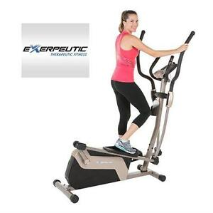 USED EXERPEUTIC MAGNETIC ELLIPTICAL TRAINER DOUBLE TRANSMISSION - FITNESS EQUIPMENT MACHINE WORKOUT AEROBIC 80617836