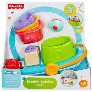 Fisher-Price Stacking Tubtime Boat Toy **BRAND NEW IN BOX!**