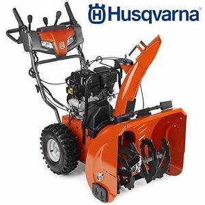 "NEW HUSQVARNA 24"" SNOW THROWER SNOW BLOWER 208CC TWO STAGE WEATHER WINTER SNOW ICE  84065440"