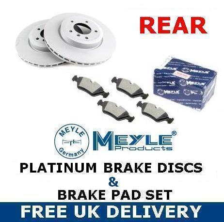 FOR BMW 120D 1 SERIES E81 E87 2004- REAR MEYLE PLATINUM BRAKE DISC MEYLE PADS