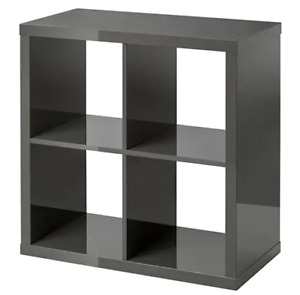 6 month old IKEA Kallax Shelf (Dark Brown) with 3 Storage Cubes