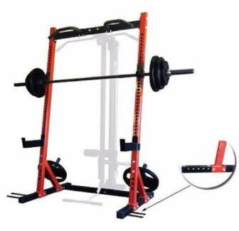Squat Rack with safety Stands and Chin bar and J hooks. Angle Park Port Adelaide Area Preview