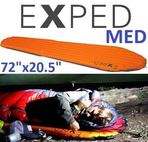 "NEW EXPED SYNMAT SLEEPING PAD 881905 199875660 HYPERLITE MED AIR PAD ORANGE CAMP BEDDING 72""x20.5"""