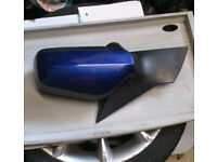 Vauxhall Astra Coupe N/S Wing Mirror In Blue (2004)
