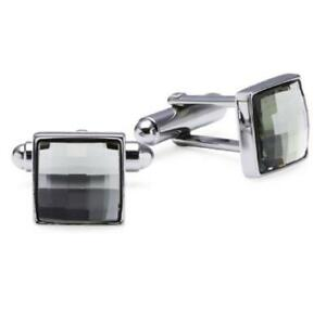 Mens swarovski black cuff links