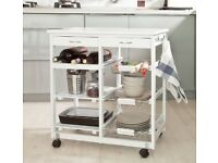 Kitchen Trolley - Storage with Shelves & Drawer